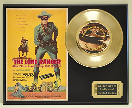 Lone Ranger Limited Edition Gold 45 Record Display. Only 500 made. Limited quanities. FREE US (Rangers Collectibles)