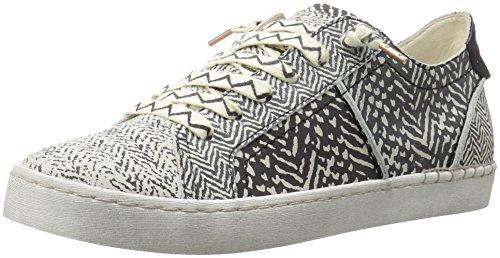 Dolce Vita Women's Z-Punk Fashion Sneaker, Black/White Nubuck, 7.5 M US