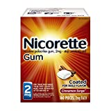 Nicorette Nicotine Gum to Quit Smoking, 2 mg, Cinnamon Surge Flavored Stop Smoking Aid, 160 Count