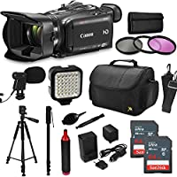 Canon XA30 HD Professional Video Camcorder + Core Accessories, Tripod + Monopod + Bag + LED + Mic + Filters + Battery