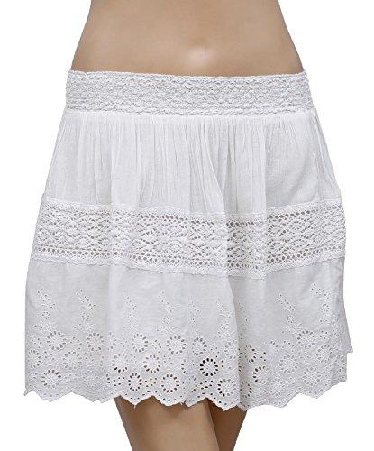 Eyelet Mini Skirt (RALPH LAUREN Denim & Supply Women's Eyelet-Embroidered Miniskirt (Medium, White))
