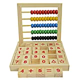 Wooden Abacus,amazingdeal Children Counting Number Maths Learning Toy Early Educational Toy for Kids (A)