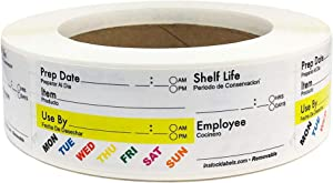 """Universal Removable Food Rotation Labels 1.25 x 3.3375"""" Inch 500 Total Stickers"""