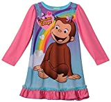 Curious George Long Sleeve Girls Nightgown, Toddler Sizes 2T-4T
