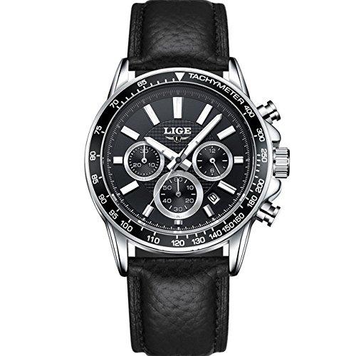 Relojes de Hombre Cronógrafo De Cuarzo Reloj Hombre De Moda para Caballero Movimiento Suizo Caja de Acero Inoxidable 2018 Nueva Colección RE0092
