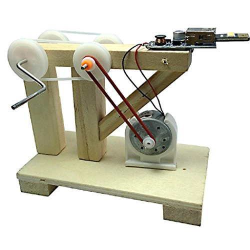 Educational Hand Cranked Generator - Flymall School Science and Technology Making Inventions Homemade Electricity Generators Experiment Materials Experiment Kit Classroom