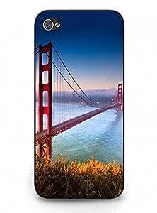 Hard Phone Plastic Case for Iphone 5 5s - Classy Golden Gate Bridge Pattern