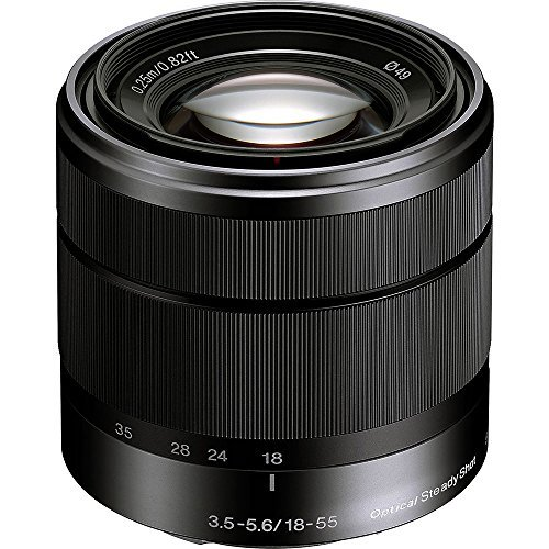 Sony Alpha SEL1855 E-mount 18-55mm F3.5-5.6 OSS Lens (Black)