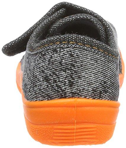 Fischer Alex, Zapatillas de Estar por Casa para Niños Grau (Grau/Orange)
