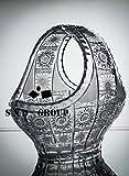 BOHEMIA CRYSTAL GLASS VASE BASKET BOWL 10'' HAND CUT DECORATIVE WEDDING GIFT CRYSTAL GLASS VINTAGE EUROPEAN DESIGN ELEGANT CENTERPIECE FLOWERS, CANDIES, FRUITS