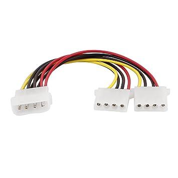 PC IDE 4 Pin Stecker auf Double Famale Power: Amazon.de: Elektronik