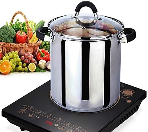 LXUA Pot De SoupePot à Soupe en Acier Inoxydable 24cmConvient pour La Cuisine à Domicile