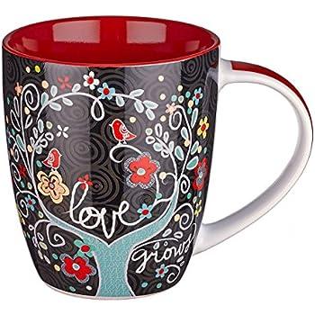 Love Grows Inspirational Mug - Psalm 136:2
