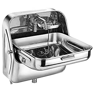RV, Caravan, Camper, Boat Folding Sink and Faucet Combo 15