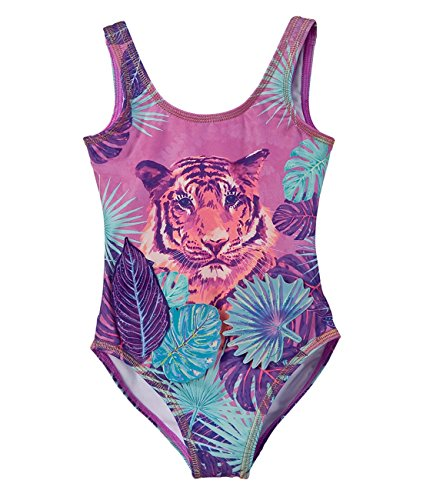c14ad428f3 OFFCORSS Toddler Girl One Piece Cute Body Swimsuits Beautiful Beach  Protective Clothing For Kid UV Protection Traje de Baño Para Niñas Bebe  Violet 12M