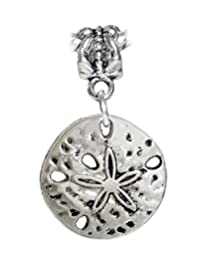 Sand Dollar Seashell Beach Shell Island Charm for European Bracelets
