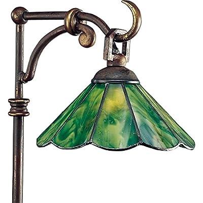 Progress Lighting P5271-20 Landscape 12-Volt Glass Top Tiffany Path Light with Tiffany Art Glass, Antique Bronze