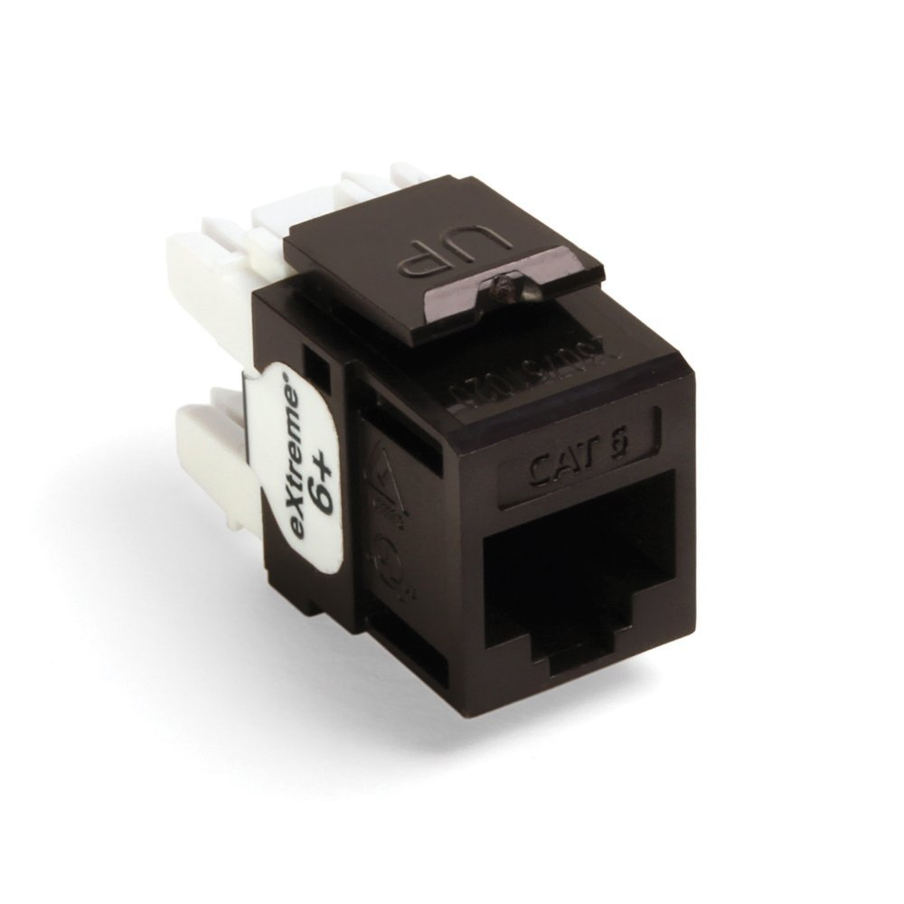 Leviton Quickport Network Connector Cat  Black