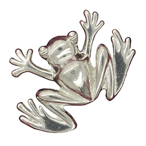 - Frog Brooch, Frog Pin, Frog Jewellery, Animal Brooch, Tree Frog, Fine Pewter, Handmade, by William Sturt