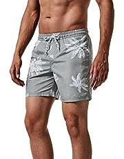 MaaMgic Bañador Hombre de Natación Secado Rápido Interior de Malla Pantalones Imprimiendo Cortos