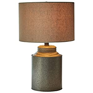 "Stone & Beam Farmhouse Jug Lamp With Bulb, 20""H, Black"