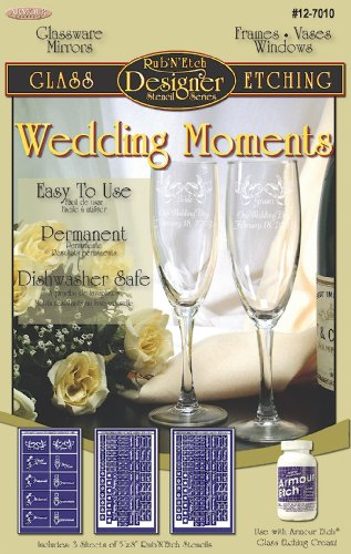 Armour Etch Designer Stencil Pak Wedding ()