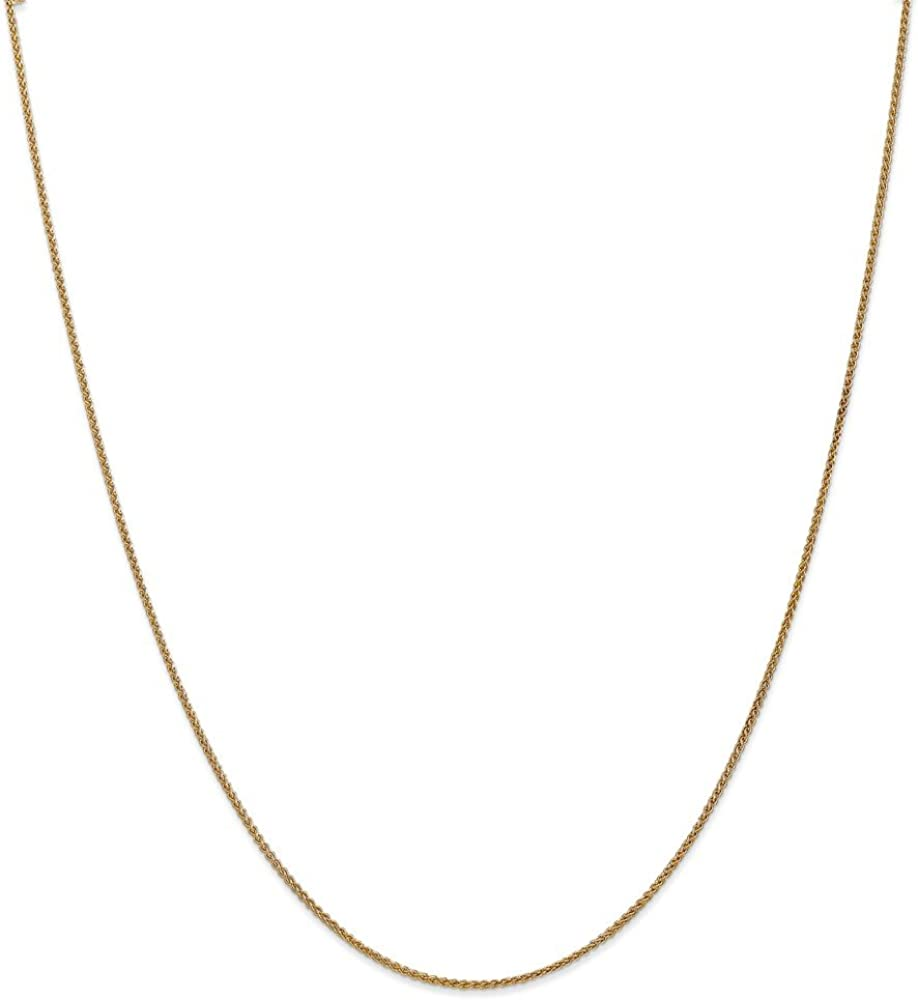 FB Jewels 14K Yellow Gold 1.25mm Spiga Chain Anklet