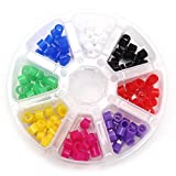 BONEW 160Pcs/Box Dental Color Code Rings Medical Grade Silicone Material Mixed Colorfull
