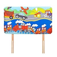 Ready Steady Bed Transport Design Children's Single Headboard 3ft Bed Size Foam Upholstered