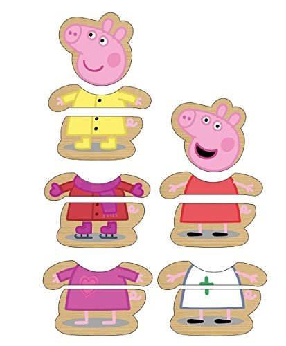 Peppa Pig Mix & Match Dress Up Wooden Puzzle 12 pcs.
