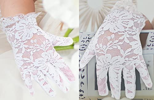 Dress Outfit White Lace Communion Gloves toddlers Christmas Super Cute Boys /& Girls Wedding Special Occasion