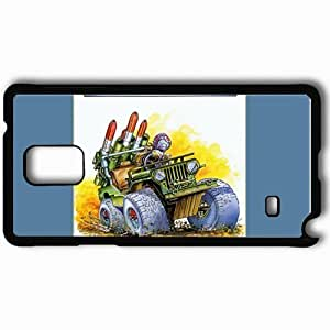 Personalized Samsung Note 4 Cell phone Case/Cover Skin Army Moves Black