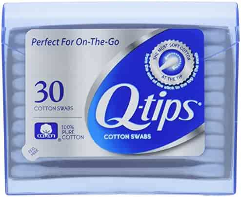 Q-tips Swabs Purse Pack 30 Each (Pack of 3)
