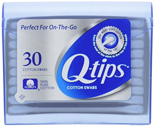 Qtips Swabs Purse Pack 30 Each  Pack of 3