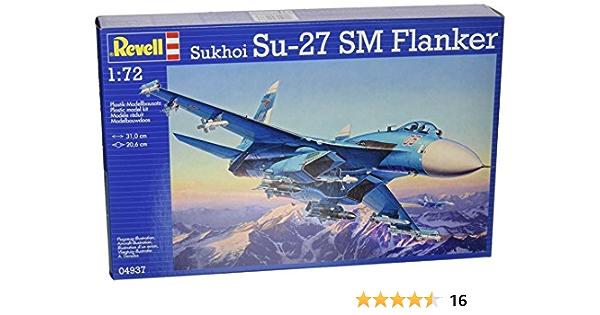 Revell - Maqueta Sukhoi Su-27 SM Flanker, Escala 1:72 (04937): Amazon.es: Juguetes y juegos