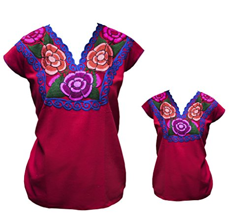 0a9448eec0379 Search results. tabik. TABIK Floral Embroidered Mexican Peasant Blouse for  Women ...
