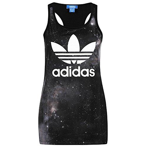 adidas Originals Women's Galaxy Print Tank Vest - Black - 6
