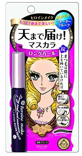 3 X Isehan Kiss Me heroine make | Mascara | Long & Curl & SUPER WATER PROOF Mascara 01 Jet Black 6g by Ise half