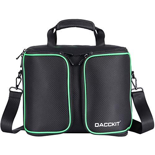 D DACCKIT Travel Carrying Case Compatible with Xbox One X/Xbox One S Console and Accessories - Fit Game Console, 2x Wireless Controllers, Games, Headsets, Power Cables and More