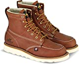 "Thorogood 804-4200 Men's American Heritage 6"" Moc Toe, MAXwear Wedge Safety Boot, Tobacco Oil-Tanned - 10 D(M) US"