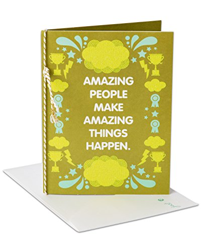 American Greetings Amazing Things Congratulations Greeting Card with Cord and Glitter