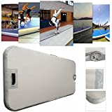 78.74x35.43x3.94inch Gym Air Track Floor Home Gymnastics Inflatable Tumbling Mat with Electric Pump
