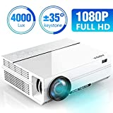 Projector, 2019 Newest ABOX A6 1080p Native Resolution LED Projector, 4000 Lux Home