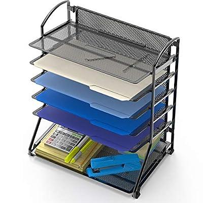6 Trays Desktop Document Tray Organizer