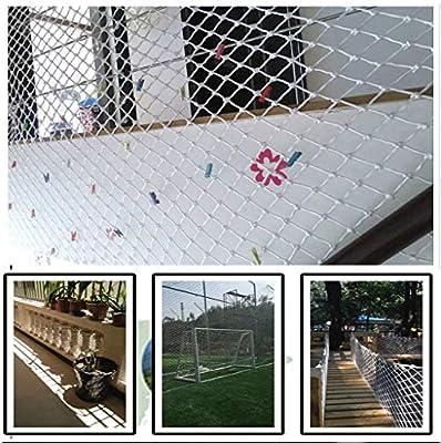 Niños Balcón Escalera Mascota Red de Seguridad Protector, Barandilla Escalera Cerca Alpinismo Tejido Cuerda Carga Red de Remolque Malla de Decoración - Blanco (Color : 5cm, Size : 1 * 1m(3 * 3ft)): Amazon.es: Hogar