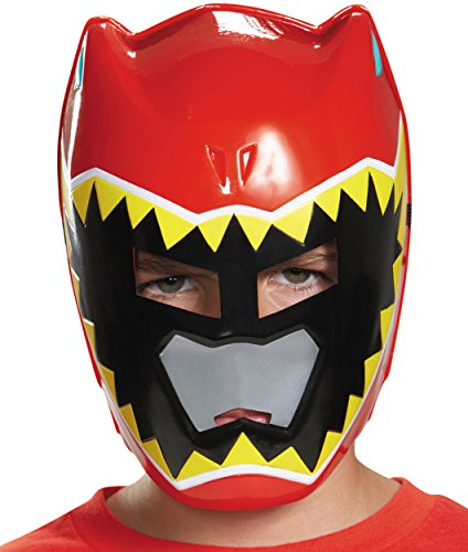 Disguise Red Ranger Dino Charge Vacuform Mask Costume ()