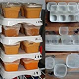Bazaar 8x70ml Baby Weaning Food Freezing Cubes Feeding Pots Tray Storage Gruel Rice BPA Free Containers Box