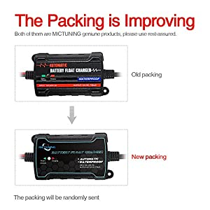 MICTUNING 6V 12V Intelligent Fully Automatic Battery Float Charger / Maintainer (Color: Black, Tamaño: 0.75A Battery Charger)