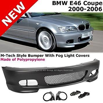 BMW E46 Coupe 00 - 05 M-Tech rendimiento parachoques delantero con antiniebla Luz cubre: Amazon.es: Coche y moto