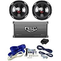 2 BOSS P106DVC 10 4200W Car Subwoofers Subs + 1600W 2-Ch Amp + 4 Gauge Amp Kit